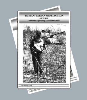 Cover showing deminer with metal detector