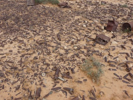 ground littered with ERW in Libya